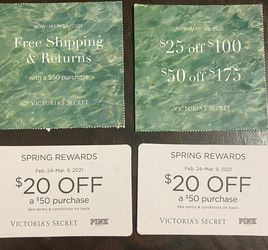 Victoria's Secret Coupons $8 For All for Sale in Cicero,  IL
