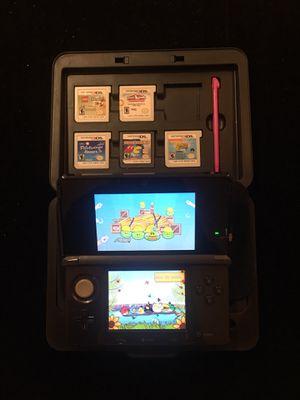 Nintendo Cosmo Black 3DS Handheld+Lot of 6 Games+Charger+Mario Bag+Nintendo Case+Memory Card for Sale in Atlanta, GA