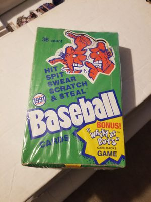 Wacky baseball card wax box (sealed) for Sale in Jessup, MD