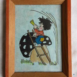 An Antique Hand Colored Folk Art Bugle Boy Postcard By Artist Fole for Sale in Tacoma, WA