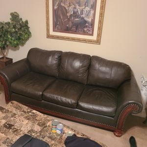Granny's Special Leather Sofa for Sale in Morrow, GA