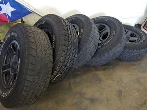 Jeep wrangler 5 set Tire and wheel 245/75R16 for Sale in Roseville, CA