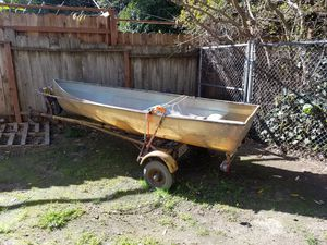 Fishing boat and trailer paper work in hand for Sale in Hayward, CA