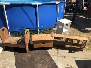 Wooden bench, storage and shelve for Sale in Taylor, MI