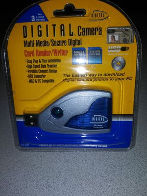 DIGITAL CAMERA MULTI-MEDIA/SECURE DIGITAL CARD READER/WRITER NEW FACTORY SEALED for Sale in Naperville, IL