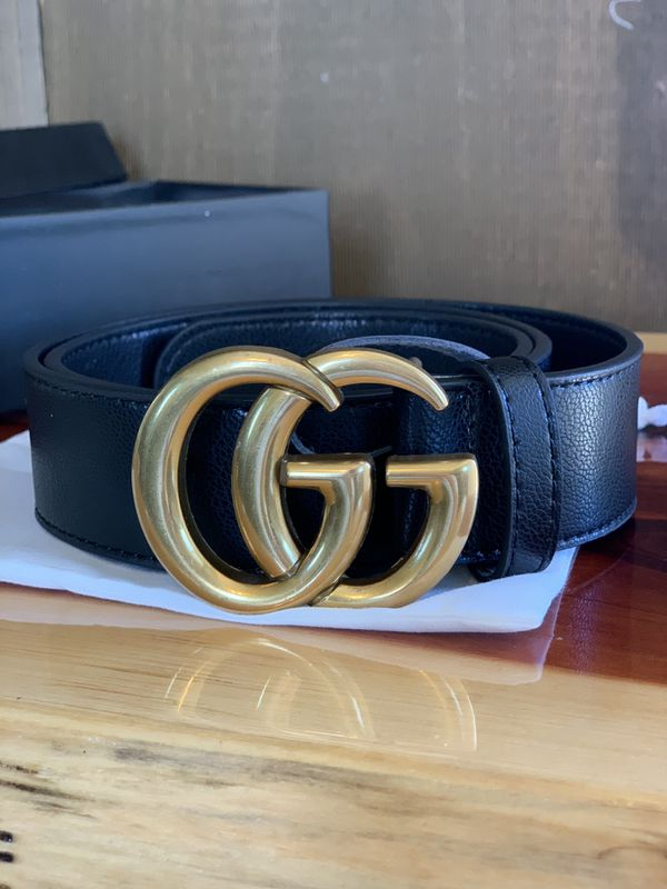 Amazing Gucci Belt Marmont Black Leather