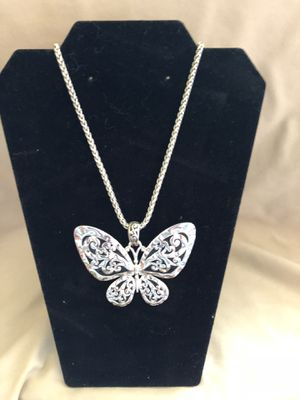 Silver toned butterfly necklace for Sale in Gainesville, GA