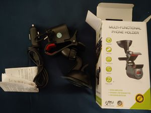 Car FM audio transmitter and phone holder for Sale in San Jose, CA