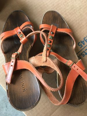 Nine West made in Italy, high heel, strap sandals, size 38 (my shoes size 8) spring summer sandals for Sale in Redmond, WA