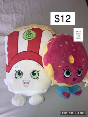 Shopkins Plush Popcorn and Pink Sprinkle Donut for Sale in Mobile, AZ