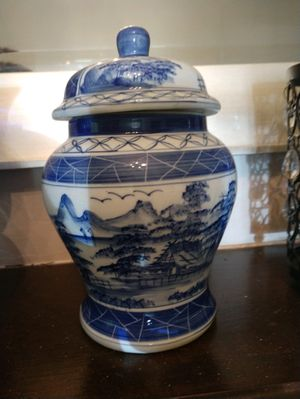 blue and white chinoiserie jar for Sale in Fairfax, VA