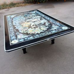 Excelife Phoenix Design Mother Pearl Table - Floor Asian Style Floor Table - Shushi Table for Sale in Fullerton,  CA