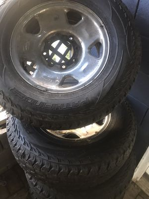 Ford F series 8 lugs rims and tires for Sale in Irvington, NJ