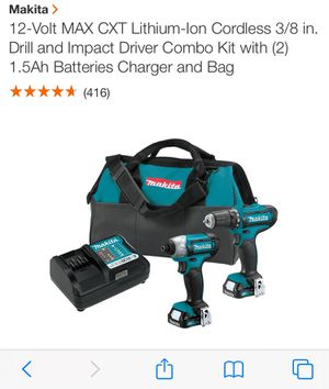 Mikita 12v Drill and Impact Driver Cordless New for Sale in Largo, FL