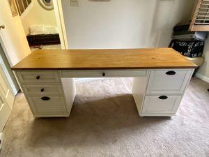 Whitney 7-Drawer Rectangular Desk, Almond White for Sale in Olney, MD