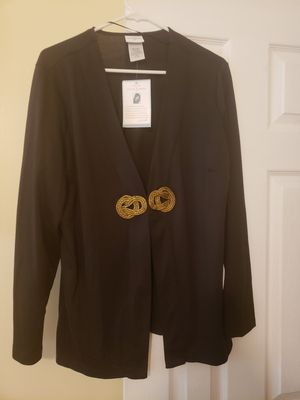 Jaclyn Smith Holiday Black Open Front Blazer Jacket Women's Size XL for Sale in Madison Heights, VA