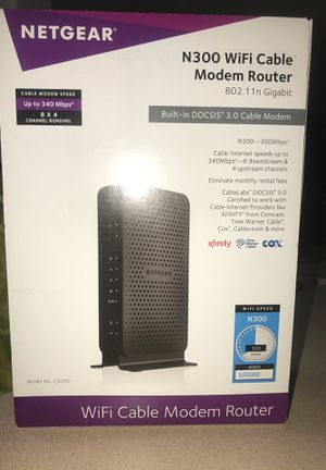 Netgear n300 WiFi cable modem router for Sale in Orlando, FL