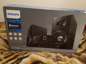 Bluetooth Wireless Music System Stereo Speaker Micro Mp3 CD USB Philips. for Sale in Oceanside, CA