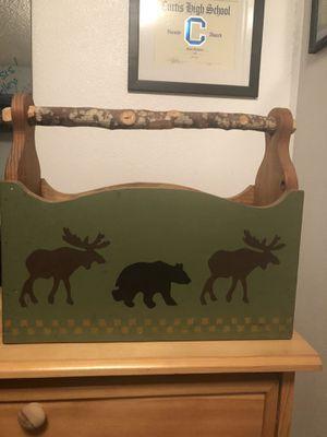 Wood magazine rack- Northwoods design for Sale in Fircrest, WA