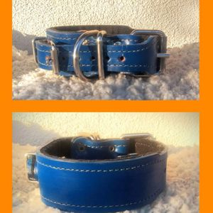 New Super Secure Double buckle Collar 100% Leather for Sale in Covina, CA