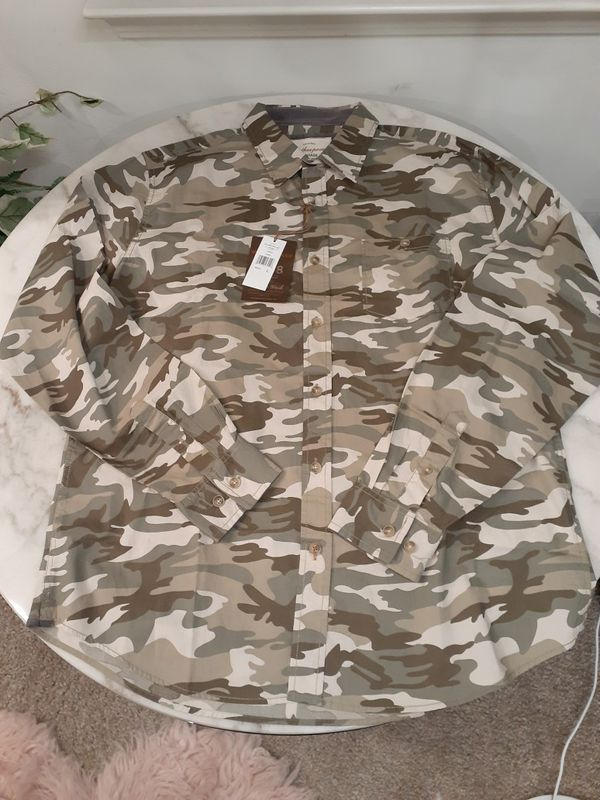 Men Camouflage Shirts Long Sleeves (Only 3 LEFT)
