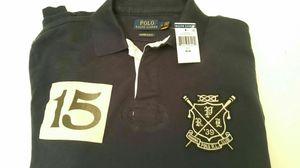 Polo Ralph Lauren Custom Fit Rowing Club Patch Stripe Navy Burgundy Sweater Sz Medium for Sale in Arlington, VA