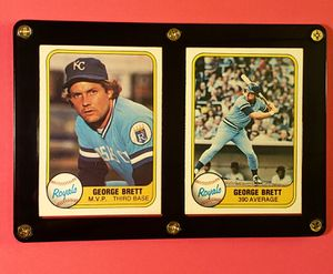 GEORGE BRETT framed baseball cards for Sale in Wichita, KS