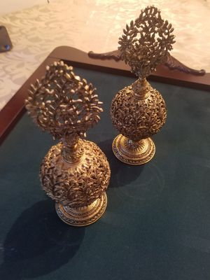 $25.00 - Perfume Bottles, (2) Bronze & Glass for Sale in Miami, FL