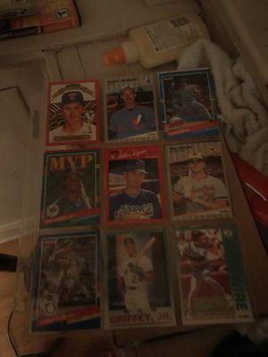 Baseball cards some my rarer ones Nolan's Johnson Griffey Ripken for Sale in Danville, KY