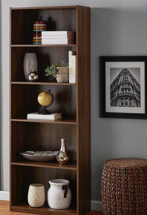 New!! Bookcase, bookshelves, storage unit, shelving display, organizer, living room furniture, dark walnut for Sale in Phoenix, AZ