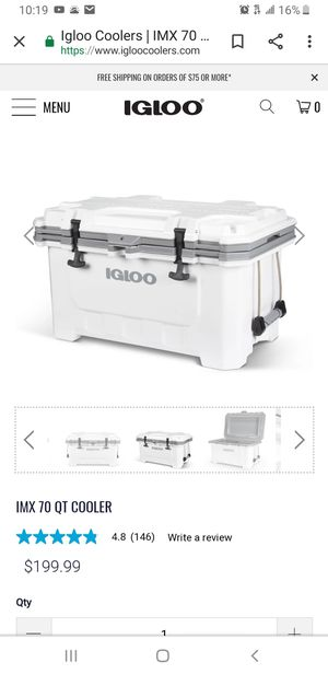 Igloo imx 70qt cooler new for Sale in Fort Lauderdale, FL
