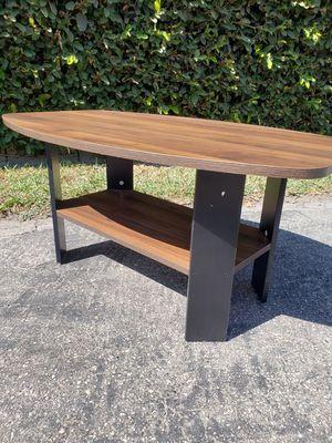 FURINNO Simple Design Coffee Table, Columbia Walnut/Black for Sale in El Monte, CA