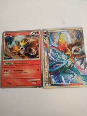 Suicune and entei pokemon cards for Sale in Tucson, AZ