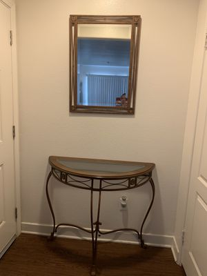 BEAUTIFUL TABLE AND MIRROR SET for Sale in Ontario, CA