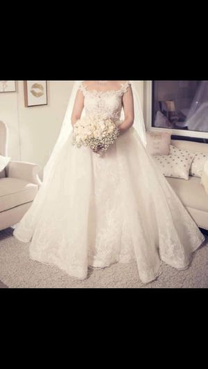 Fancy wedding dress size 6 ( customized) for Sale in El Cajon, CA
