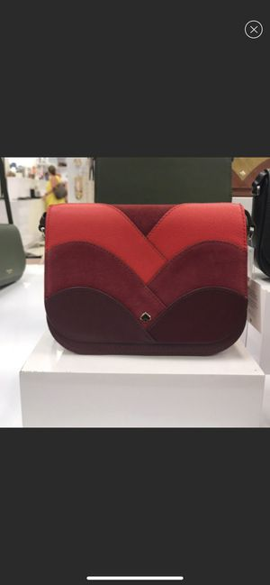 New with tags Kate Spade Red NADINE PATCHWORK Medium Flap Shoulder Bag / Crossbody for Sale in Westminster, CA