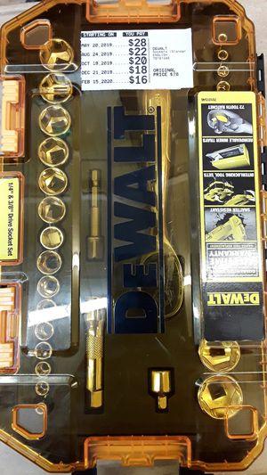 DEWALT SOCKET SET for Sale in Beaumont, TX