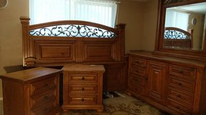 Solid Pine Bedroom Set - King for Sale in Tempe, AZ