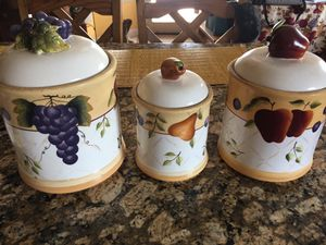Home Interiors Sonoma collection canister set for Sale in Kingsburg, CA