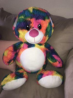 Large Beautiful rainbow multicolored plush stuffed animal for Sale in Ontario, CA