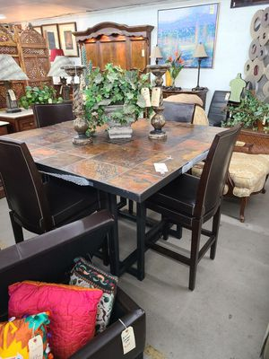 Pub Table w/4 stools 🦃 Another Time Around Furniture 2811 E. Bell Rd for Sale in Phoenix, AZ