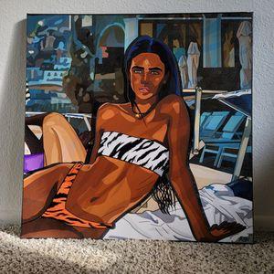"""Slim Jim beach babe"" 24x24in Canvas for Sale in Diamond Bar, CA"