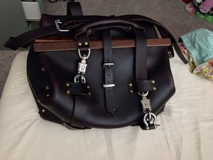 Heavy duty leather luggage bag for Sale in Spring, TX