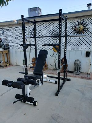 Power rack and weights for Sale in Ontario, CA