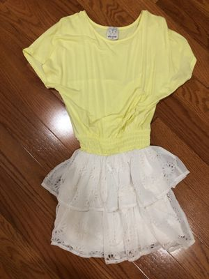 Yellow and white Ella moss designer dress size 7-8 girls for Sale in Highland, MD