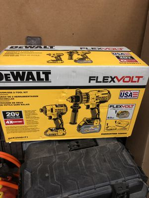 DEWALT hammer drill impact kit 60 volt battery for Sale in Woonsocket, RI
