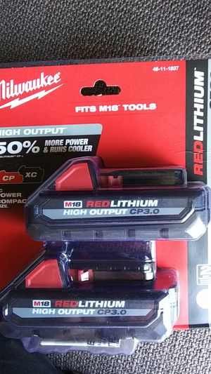 Brand new in box never opened Milwaukee M18 CP 3.0 batteries 2 pack for Sale in Charlotte, NC