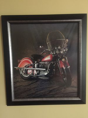 PRICE DROP Motorcycle framed art for Sale in Trout Valley, IL