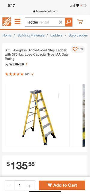 6ft fiberglass ladder for Sale in Chicago, IL
