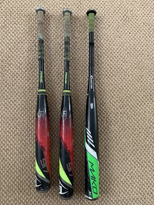 Pack of 3 USED Baseball bats: Easton Mako XL and Louisville Slugger Prime 917 (x2) for Sale in Germantown, MD